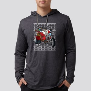 Santa Claus Motorcycle Christm Long Sleeve T-Shirt
