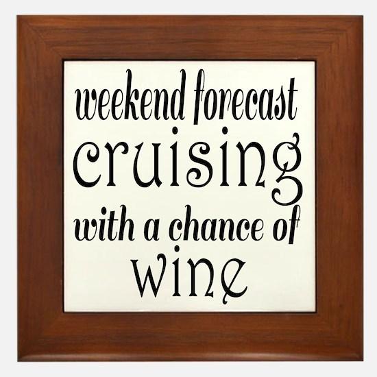 Cruising and Wine Framed Tile