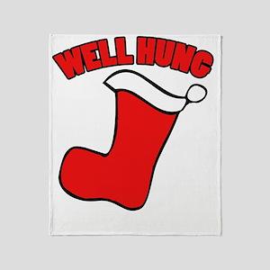 Well hung christmas Throw Blanket