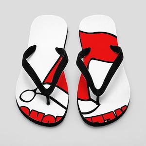 Well hung christmas Flip Flops