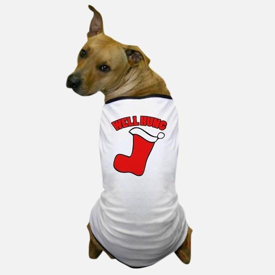 Well hung christmas Dog T-Shirt