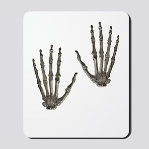 rock n roll skeleton hands Mousepad