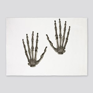 rock n roll skeleton hands 5'x7'Area Rug