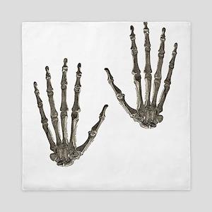 rock n roll skeleton hands Queen Duvet