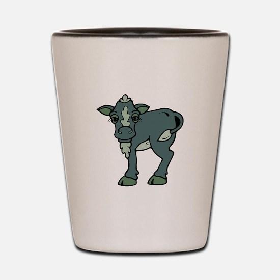 greenish grey calf Shot Glass