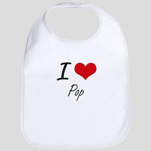 I Love Pop Bib