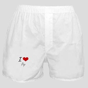 I Love Pop Boxer Shorts