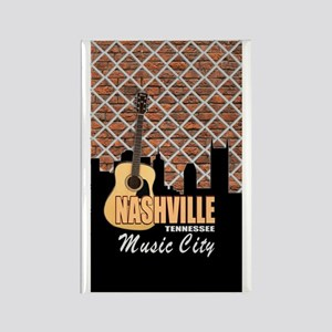 Nashville TN Music City Rectangle Magnet