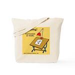 Tote Bag Warning Yellow