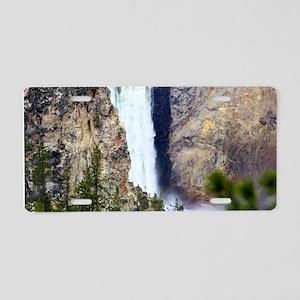 YELLOWSTONE WATERFALL Aluminum License Plate