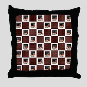 APPLE PIE PLAID Throw Pillow
