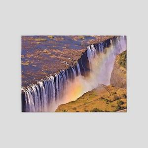 WATERFALL AFRICA ZAMBIA 5'x7'Area Rug