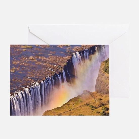 WATERFALL AFRICA ZAMBIA Greeting Card