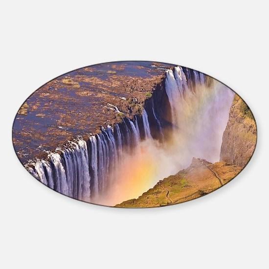 WATERFALL AFRICA ZAMBIA Sticker (Oval)