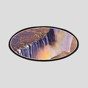 WATERFALL AFRICA ZAMBIA Patch