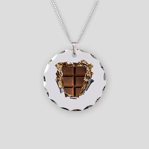 Chocolate Bar Sixpack Necklace Circle Charm
