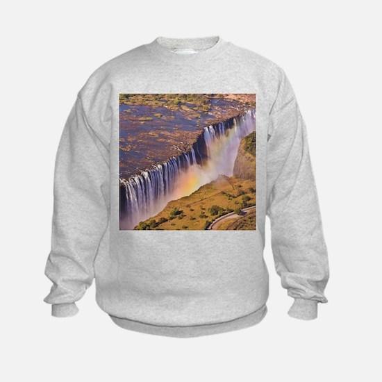 WATERFALL AFRICA ZAMBIA Sweatshirt