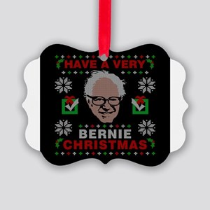 very bernie sanders ugly christma Picture Ornament