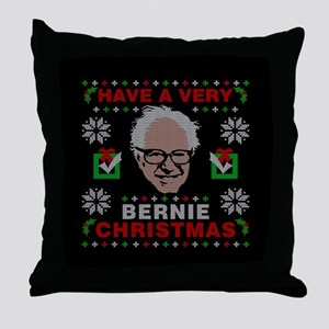 very bernie sanders ugly christmas Throw Pillow