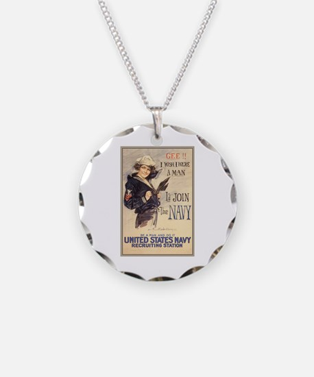 WWI US Navy Gee Girl Necklace