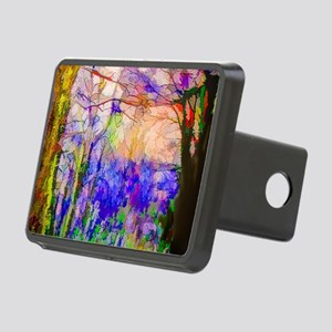 Nature In Stained Glass Rectangular Hitch Cover