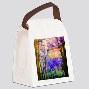 Nature In Stained Glass Canvas Lunch Bag