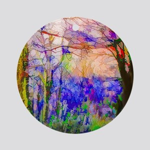 Nature In Stained Glass Round Ornament