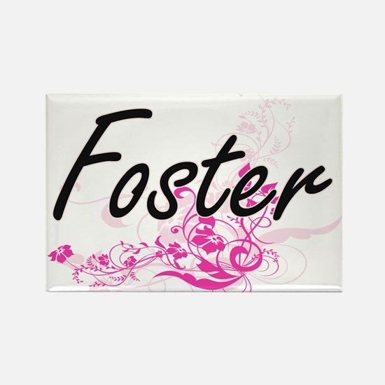 Foster surname artistic design with Flower Magnets