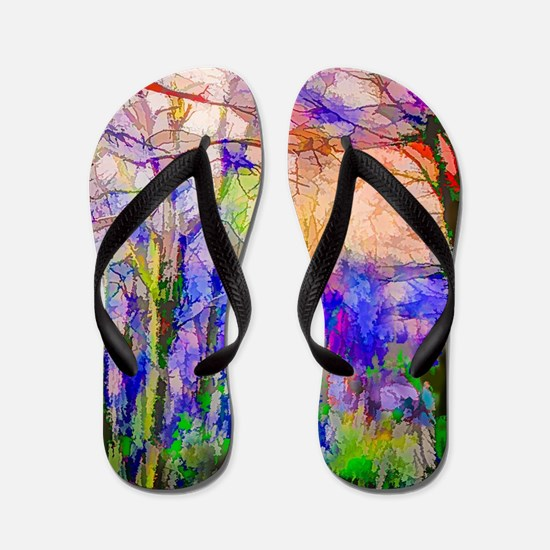 Nature In Stained Glass Flip Flops