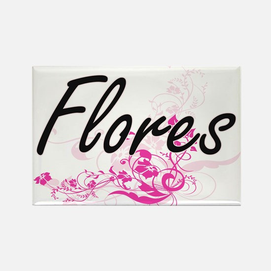 Flores surname artistic design with Flower Magnets