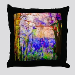 Nature In Stained Glass Throw Pillow