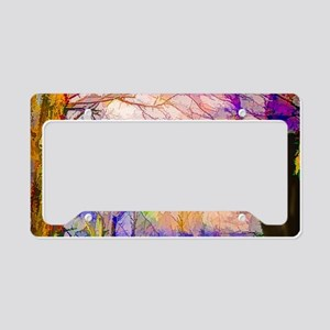 Nature In Stained Glass License Plate Holder
