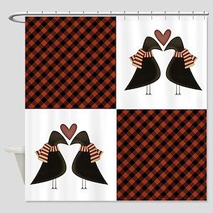 CROW PLAID Shower Curtain