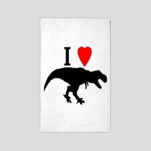I love T rex Area Rug