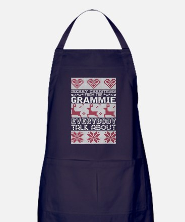 Merry Christmas From Grammie Everybod Apron (dark)