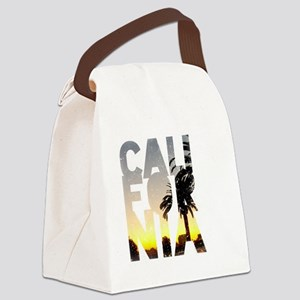 CA for California - Typo Canvas Lunch Bag