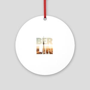 BERLIN CITY – Typo Round Ornament