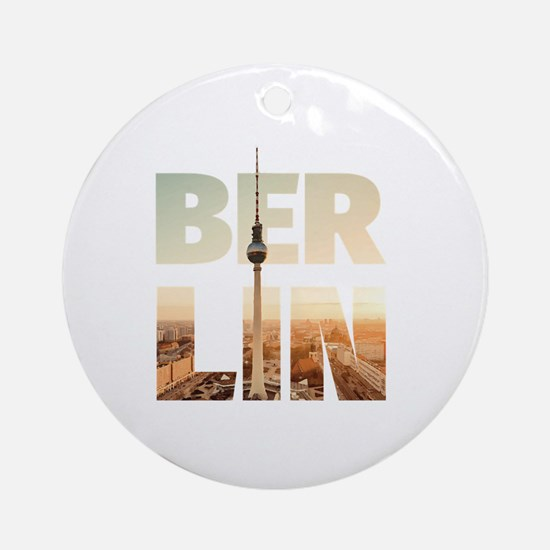 BERLIN CITY – Typo Round Ornament