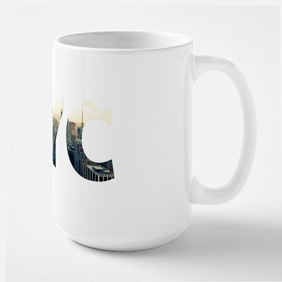 NYC for NEW YORK CITY - Typo Large Mug