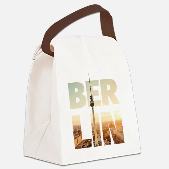 BERLIN CITY – Typo Canvas Lunch Bag