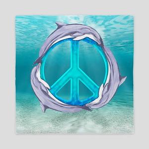 Dolphin Peace Queen Duvet
