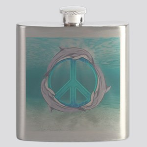 Dolphin Peace Flask