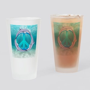 Dolphin Peace Drinking Glass