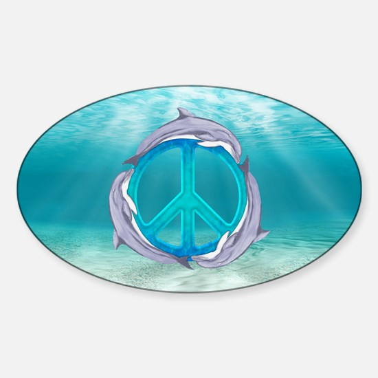 Dolphin Peace Decal