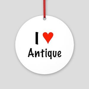 I love Antique Ornament (Round)