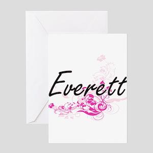 Everett surname artistic design wit Greeting Cards