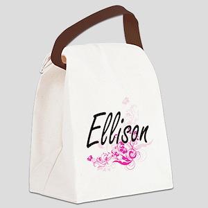 Ellison surname artistic design w Canvas Lunch Bag