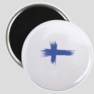 Finland Flag brush style Magnet