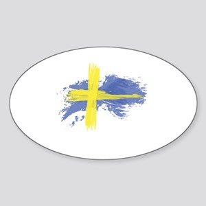 Sweden Flag Stockholm Sticker (Oval)