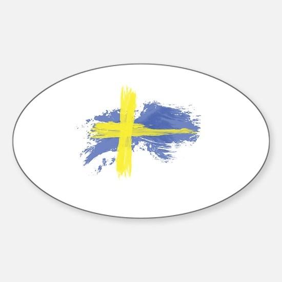 Sweden Flag Stockholm Sticker (Oval)